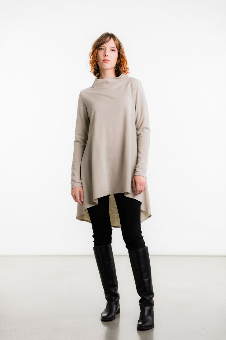 Saana Boiled Wool Tunic, Pale