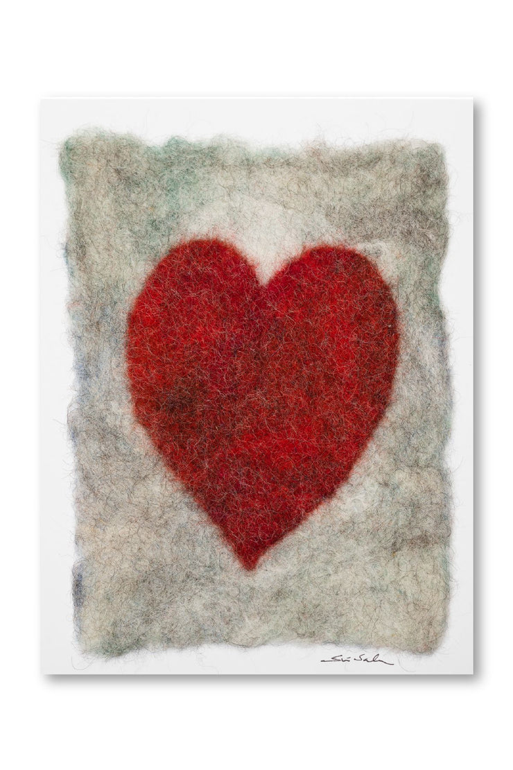 Finnish Felted Cards Heart