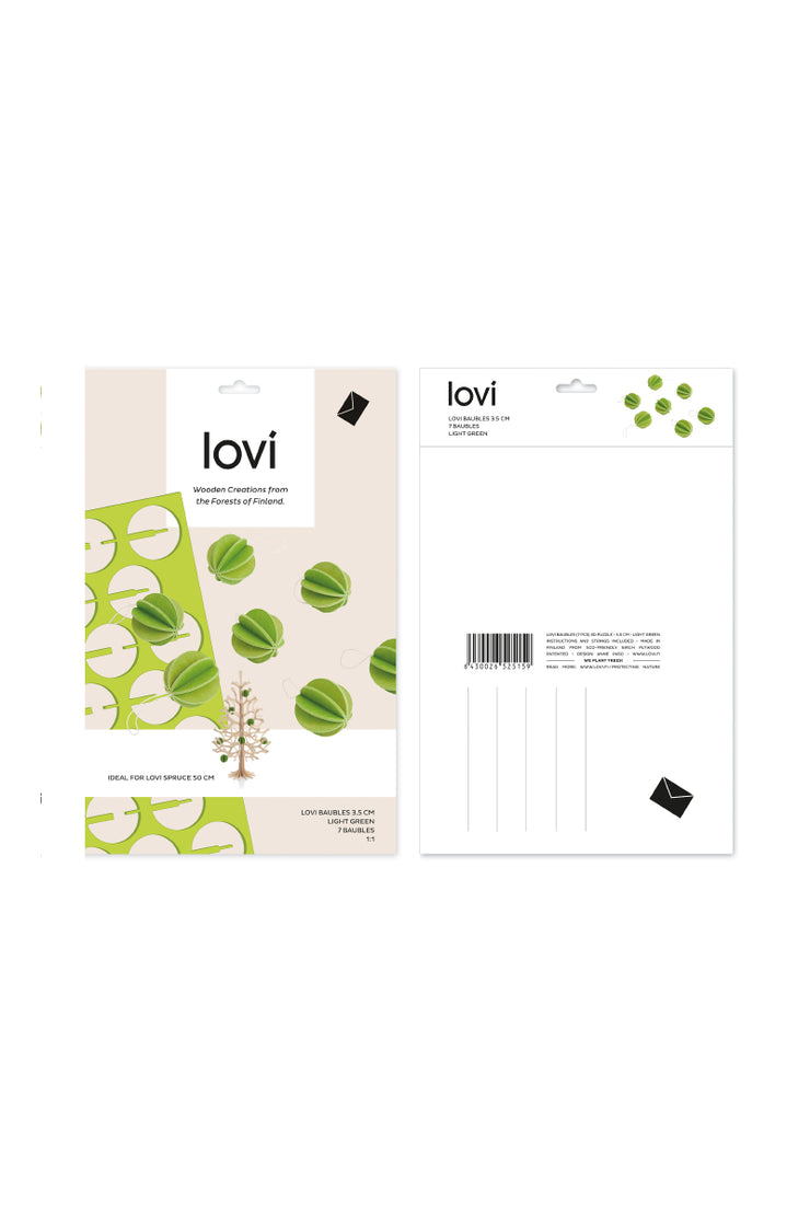 Lovi Baubles 3.5 cm,  Light Green