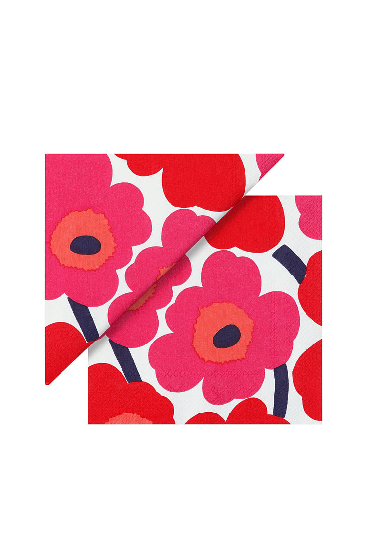 Unikko Luncheon Napkins, Red