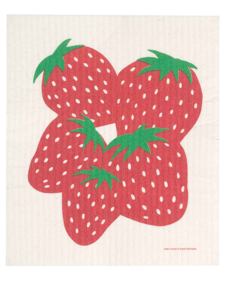 Swedish Dishcloth Strawberry