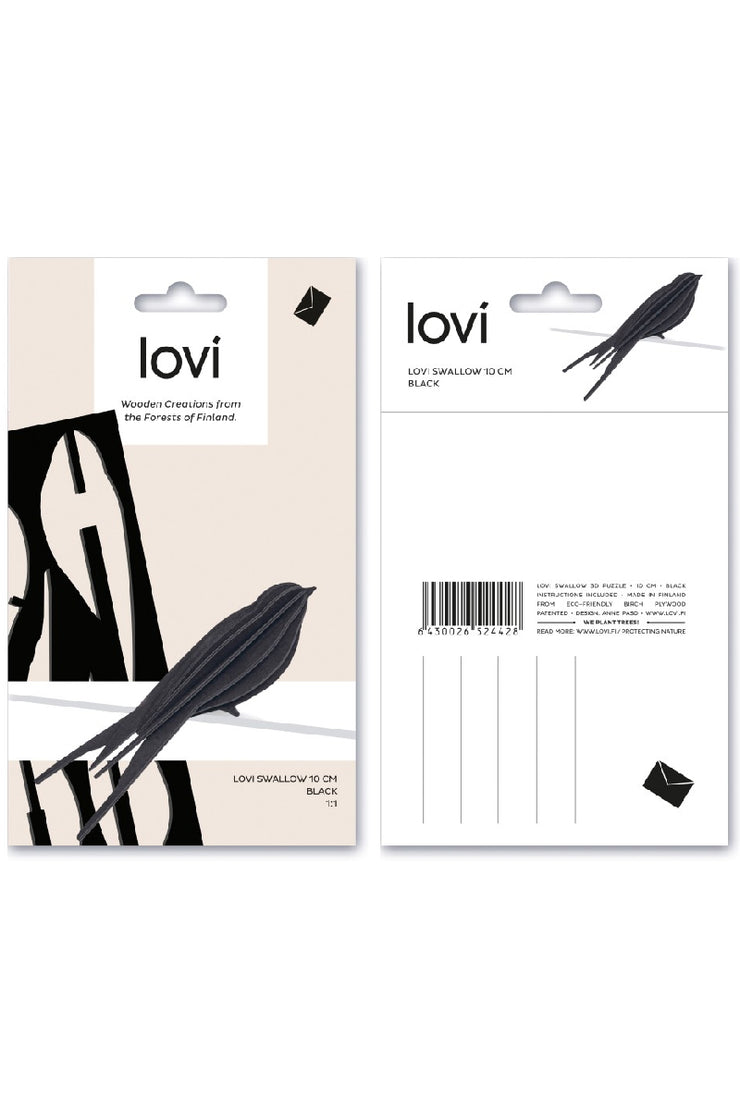 LOVI BIRD SWALLOW 10 CM DARK BLUE