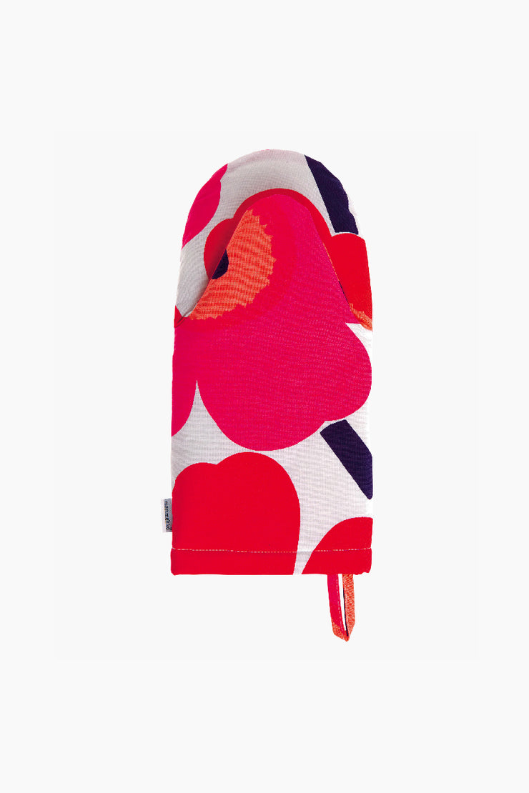 Unikko Oven Mitt, Red/White