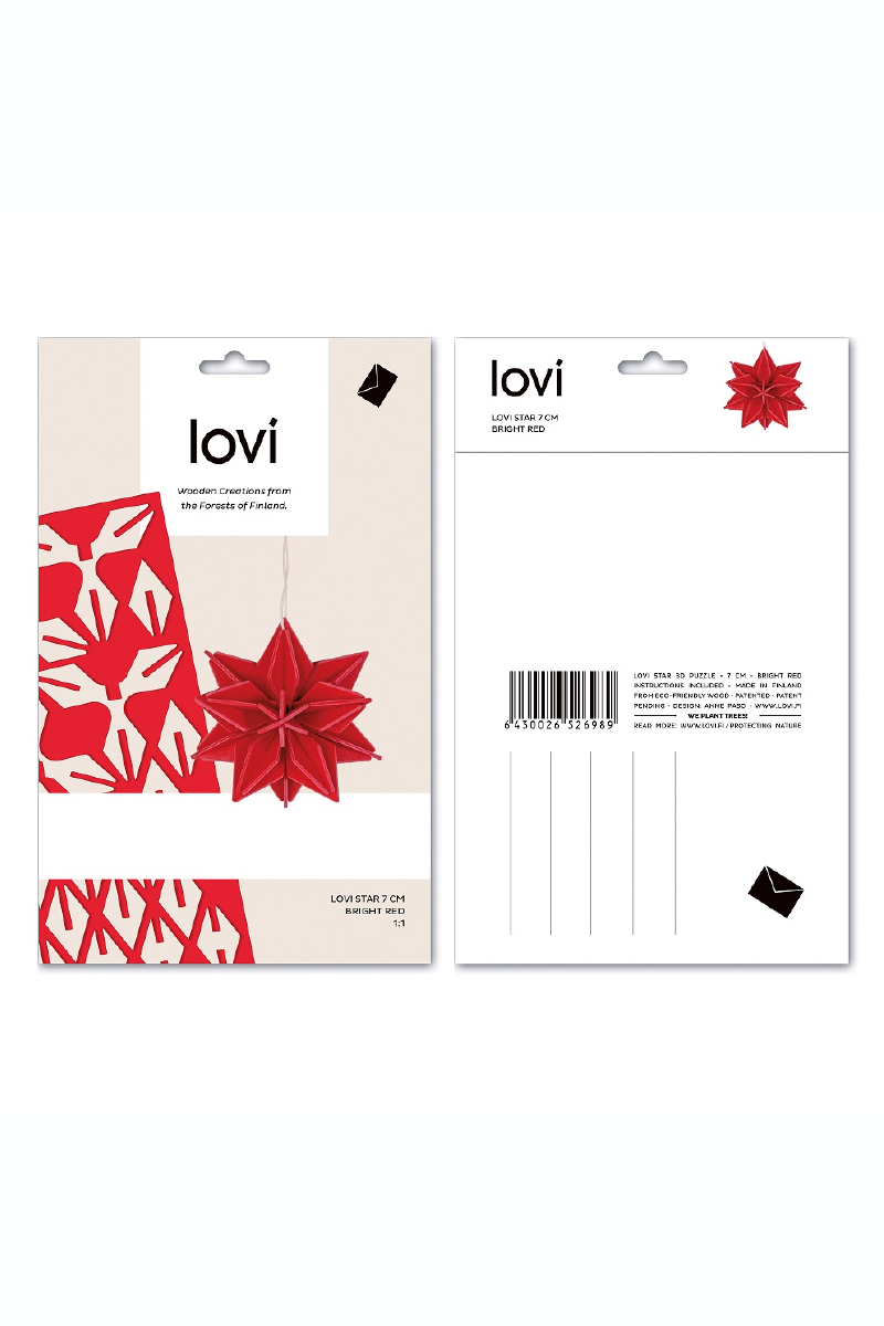 LOVI STAR 10 CM, BRIGHT RED