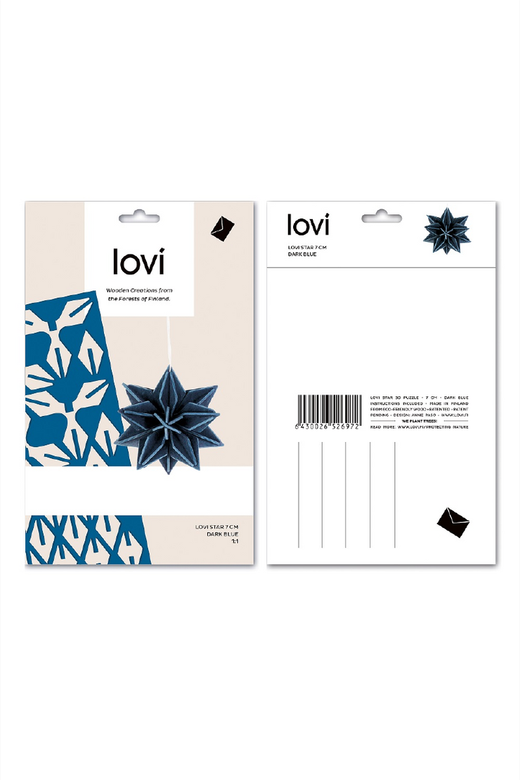 Lovi Star 7 cm, Dark Blue