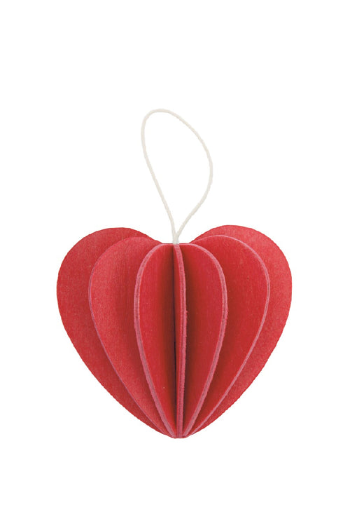 LOVI HEART BRIGHT RED 4.5 CM