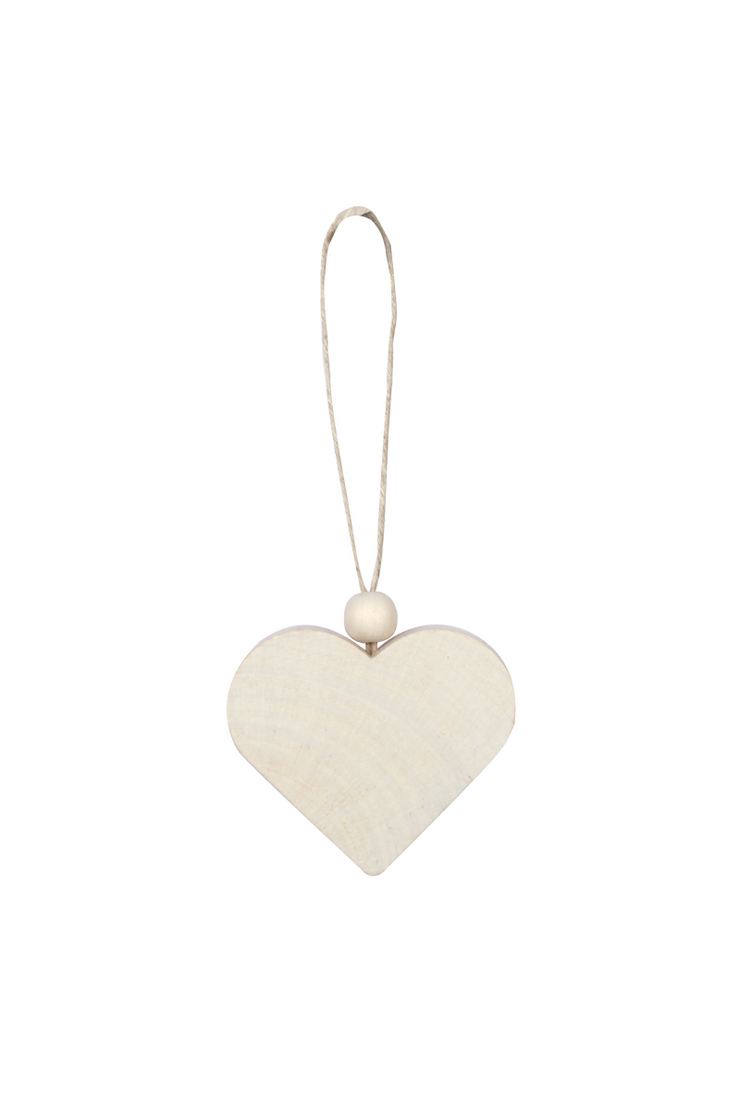 Aarikka Heart Ornament, White