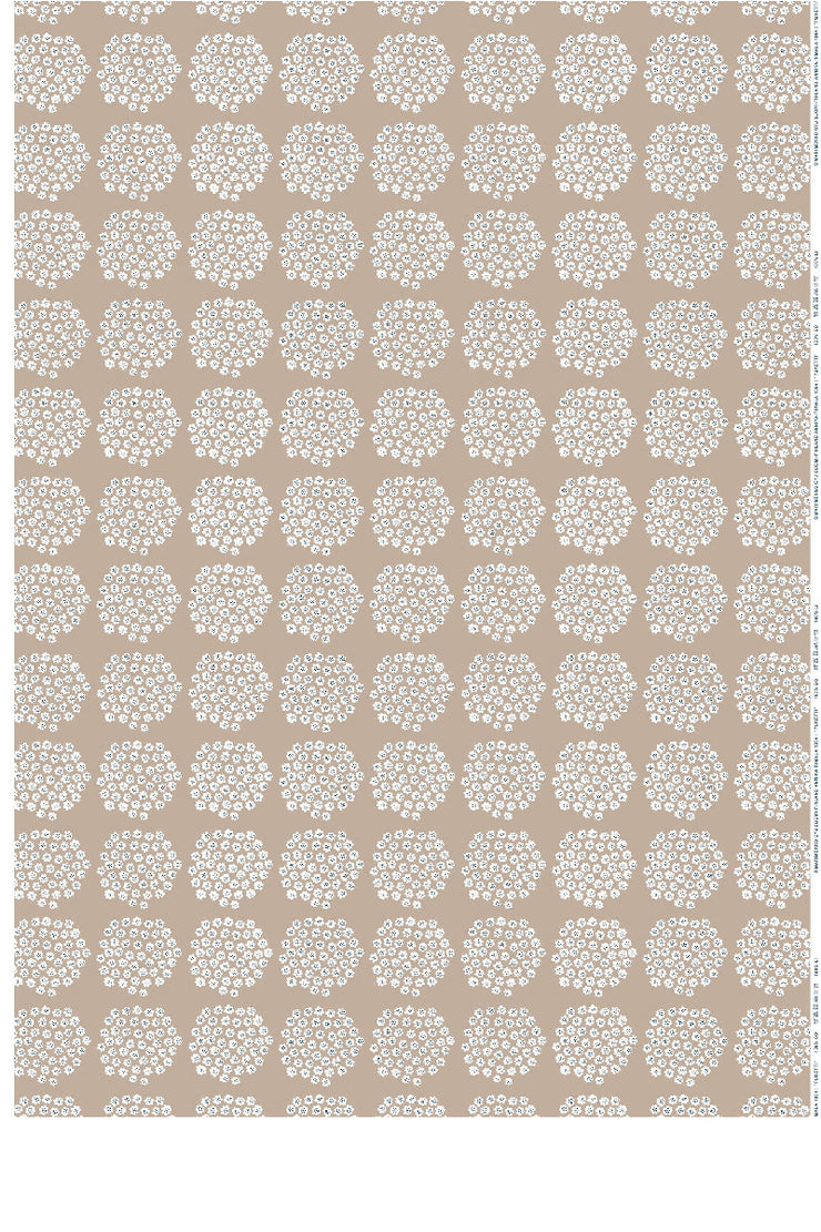 PUKETTI  COTTON FABRIC BEIGE, 1 YD