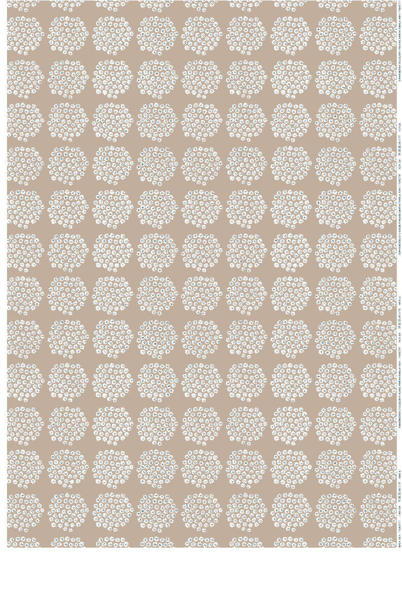 PUKETTI  COTTON FABRIC, BEIGE, 1 YD