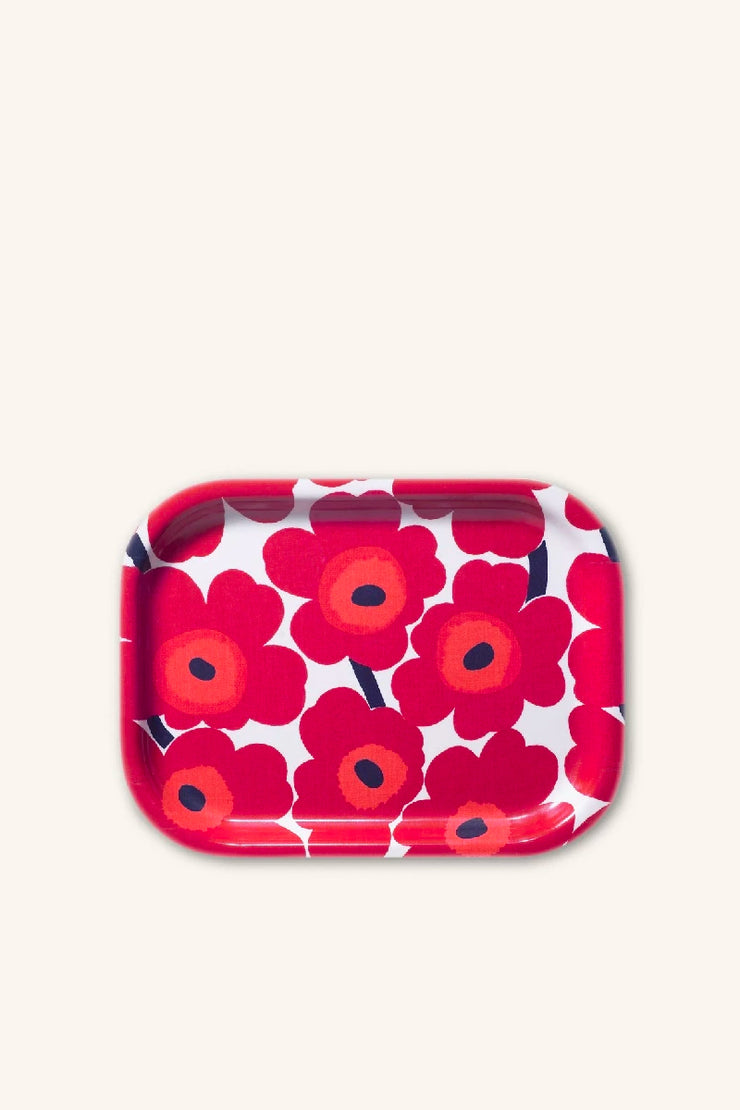 "Unikko Tray 11"" x 8"", Red"