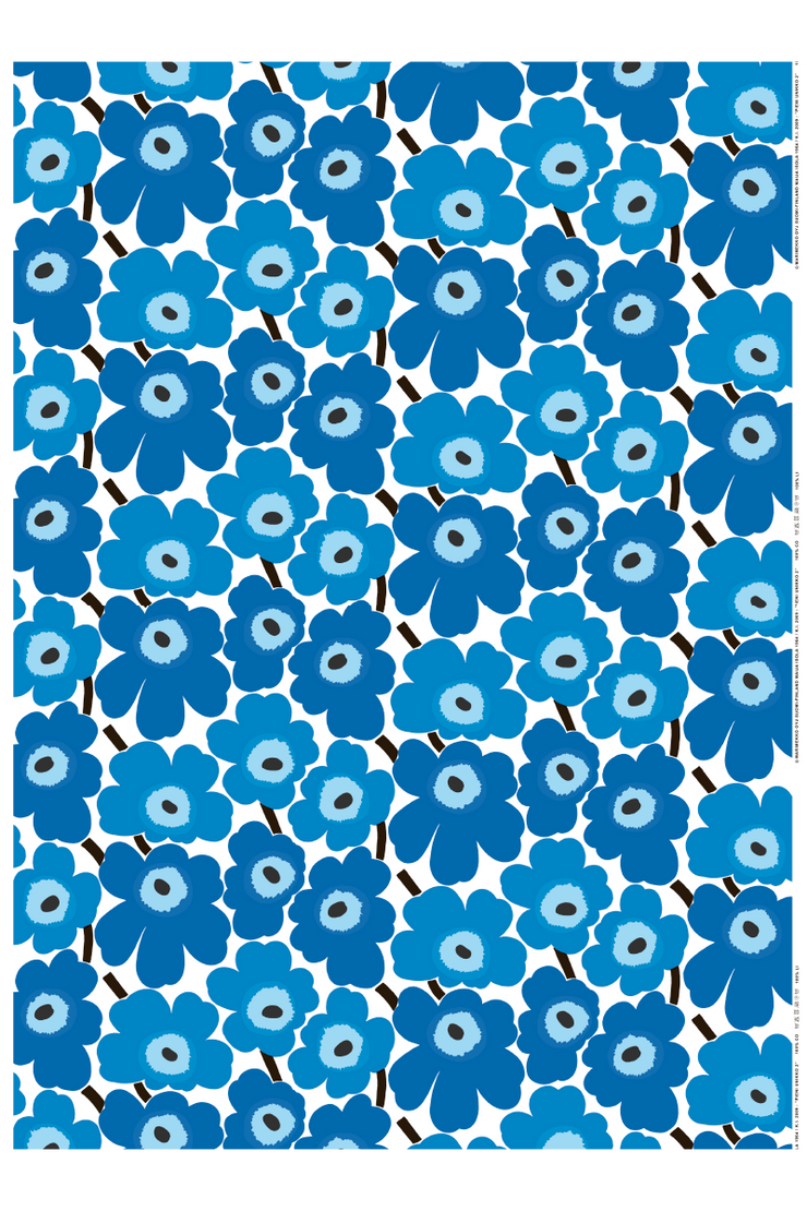 PIENI UNIKKO COTTON FABRIC, BLUE 1 YD