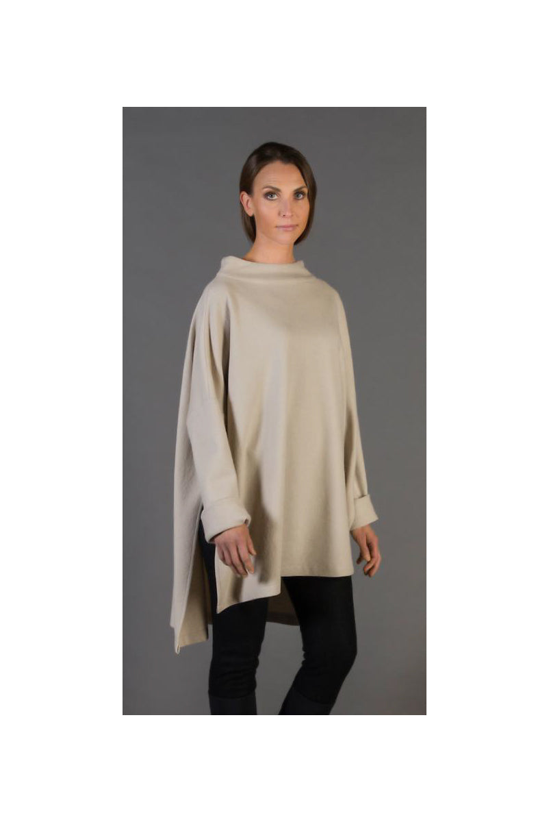 NOOLAN CILLA TUNIC, BOILED WOOL LIGHT