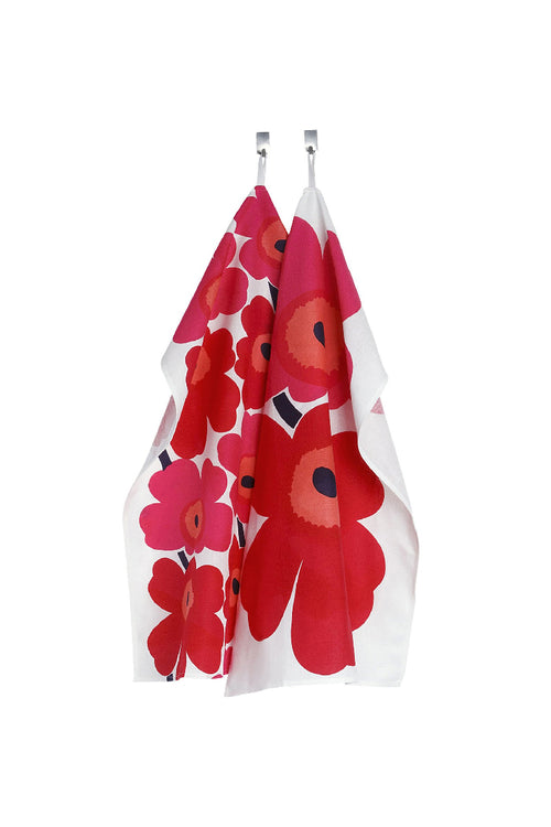UNIKKO TEA TOWEL RED/WHITE, SET OF 2