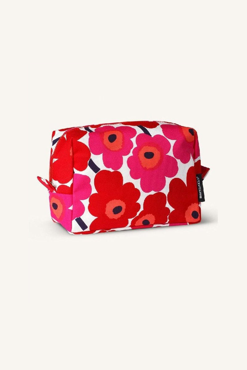 VILJA MINI UNIKKO COSMETIC BAG, RED/WHITE