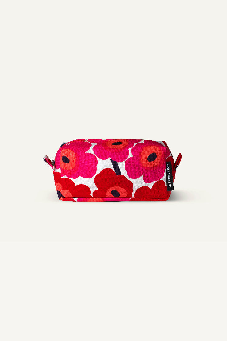 Tiise Unikko Cosmetic Bag, Red/White