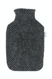 Maria Hot Water Bottle, Grey/Black