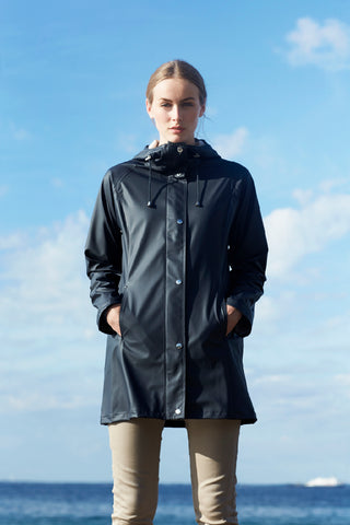 ILSE JACOBSEN RAIN 70 TRENCH, BLACK