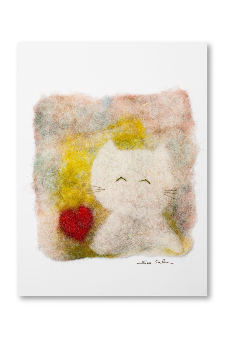 Finnish Felted Cards Cat