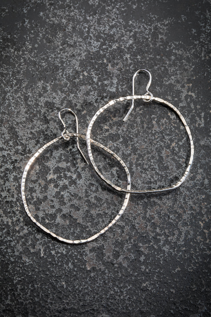 DESIGN LAAKSO SMALL SILVER HOOPS, 1""