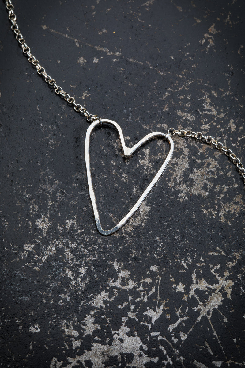 DESIGN LAAKSO SILVER HEART NECKLACE