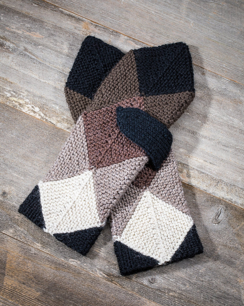 WOOL MITTENS BEIGE/BROWN