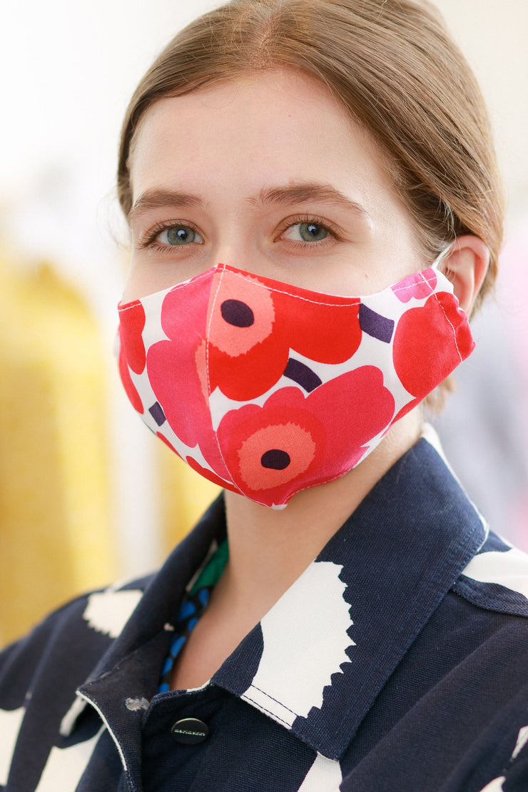 Contour Fit Mini Unikko Mask, Red/Pink