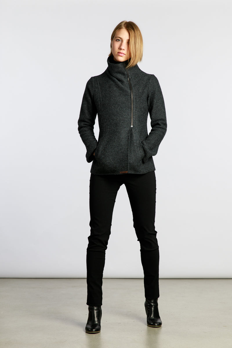MARJA RAK ISA  JACKET, DARK GREY