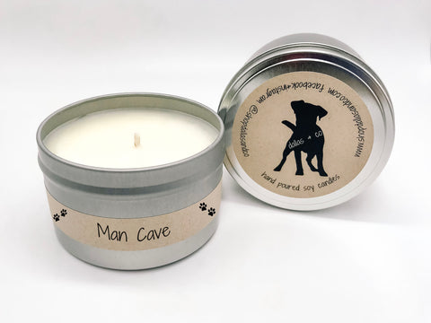 Man Cave 6.5oz Candle Tin