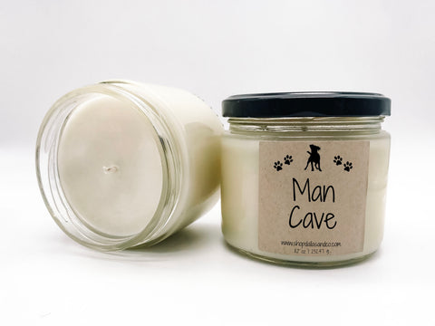 Man Cave 8oz Candle Jar