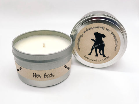New Boots 6.5oz Candle Tin