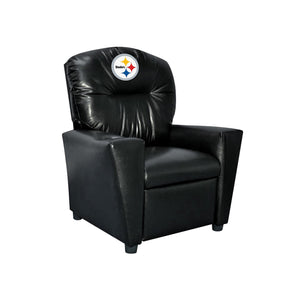 PITTSBURGH STEELERS FAUX LEATHER KIDS RECLINER