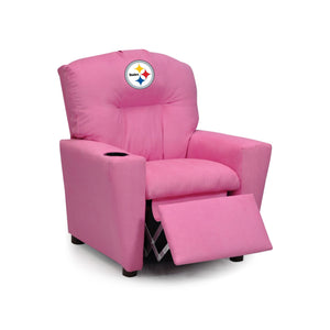 PITTSBURGH STEELERS PINK KIDS RECLINER MICROFIBER