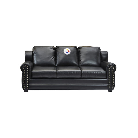 PITTSBURGH STEELERS COACH LEATHER SOFA