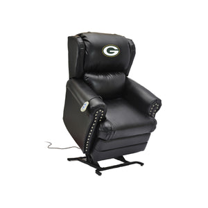 GREEN BAY PACKERS COACH LEATHER LIFT CHAIR
