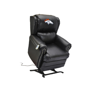 DENVER BRONCOS COACH LEATHER LIFT CHAIR
