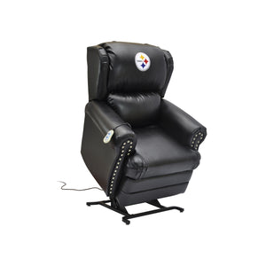 PITTSBURGH STEELERS COACH LEATHER LIFT CHAIR