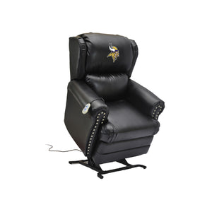 MINNESOTA VIKINGS COACH LEATHER LIFT CHAIR