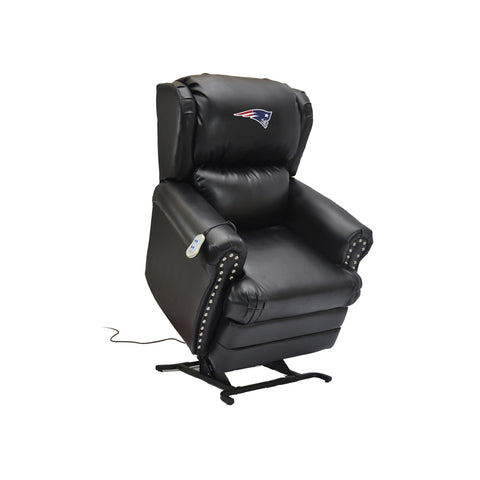 NEW ENGLAND PATRIOTS COACH LEATHER LIFT CHAIR