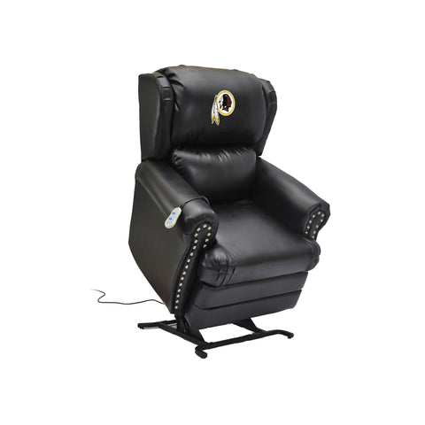 WASHINGTON REDSKINS COACH LEATHER LIFT CHAIR