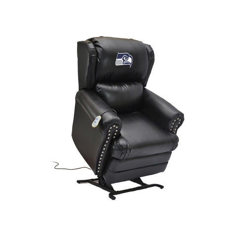 SEATTLE SEAHAWKS COACH LEATHER LIFT CHAIR