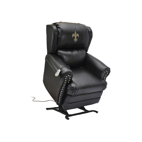 NEW ORLEANS SAINTS COACH LEATHER LIFT CHAIR
