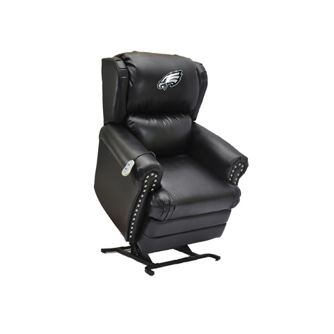 PHILADELPHIA EAGLES COACH LEATHER LIFT CHAIR