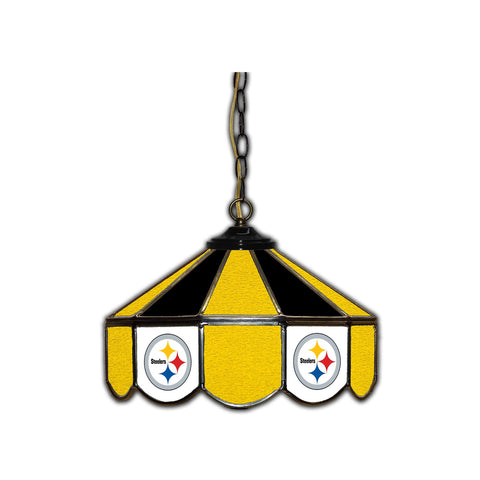 PITTSBURGH STEELERS 14in. GLASS PUB LAMP