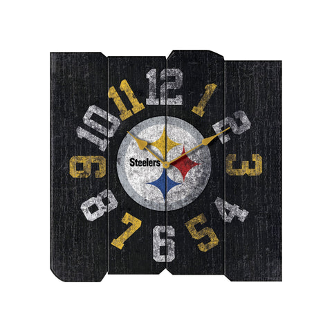 PITTSBURGH STEELERS VINTAGE SQUARE CLOCK