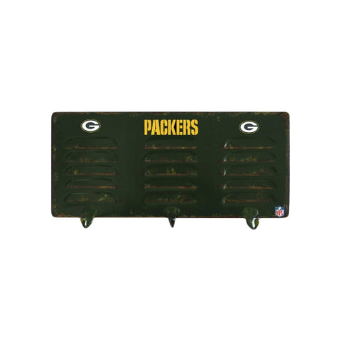 GREEN BAY PACKERS 3 HOOK METAL LOCKER COAT RACK