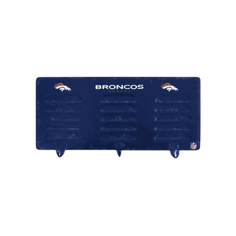 DENVER BRONCOS 3 HOOK METAL LOCKER COAT RACK