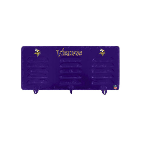 MINNESOTA VIKINGS 3 HOOK METAL LOCKER COAT RACK
