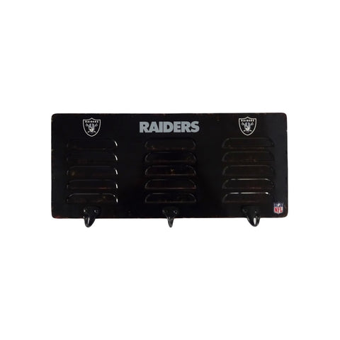 OAKLAND RAIDERS 3 HOOK METAL LOCKER COAT RACK