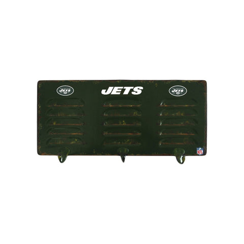 NEW YORK JETS 3 HOOK METAL LOCKER COAT RACK