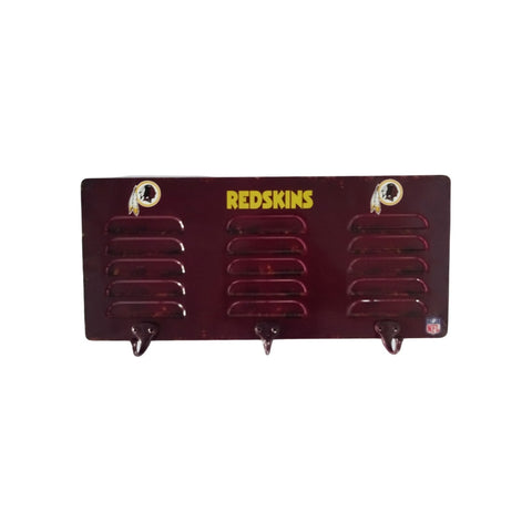 WASHINGTON REDSKINS 3 HOOK METAL LOCKER COAT RACK